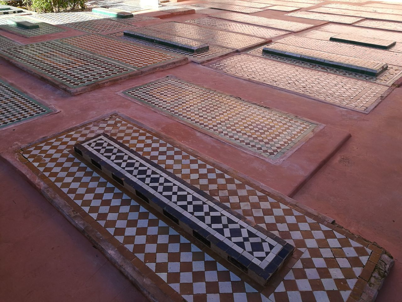 mausoleum Saadian Tombs Marrakesh Architecture Graveyard Marocco Mausoleum Mosaic Saadian Tombs Tombs Tourist Attraction  Travel Destinations