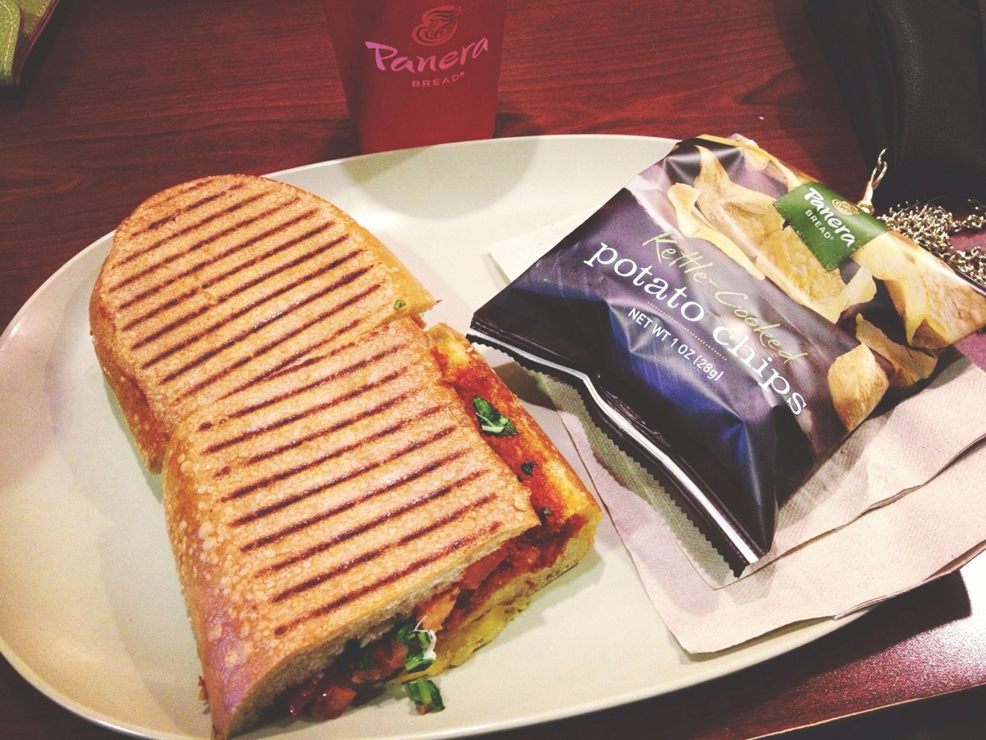 Tomato & mozzarella panini