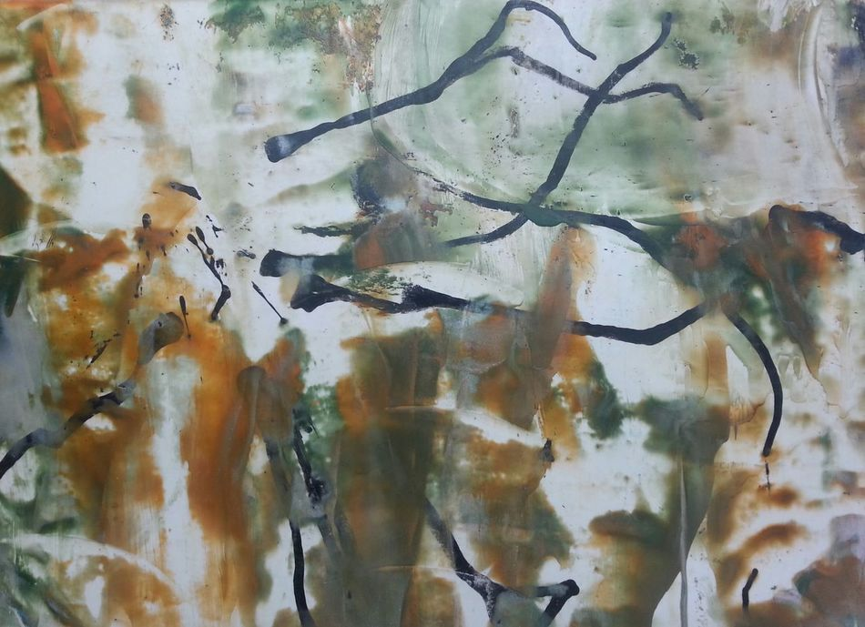 Enjoying Life Artgallery ArtWork Art, Drawing, Creativity Artistic Expression My Art, My Soul... Abstractart Abstract Eyemgallery Painting Painting Art Paint Brown And White Strange Creatures Absurd Thoughts