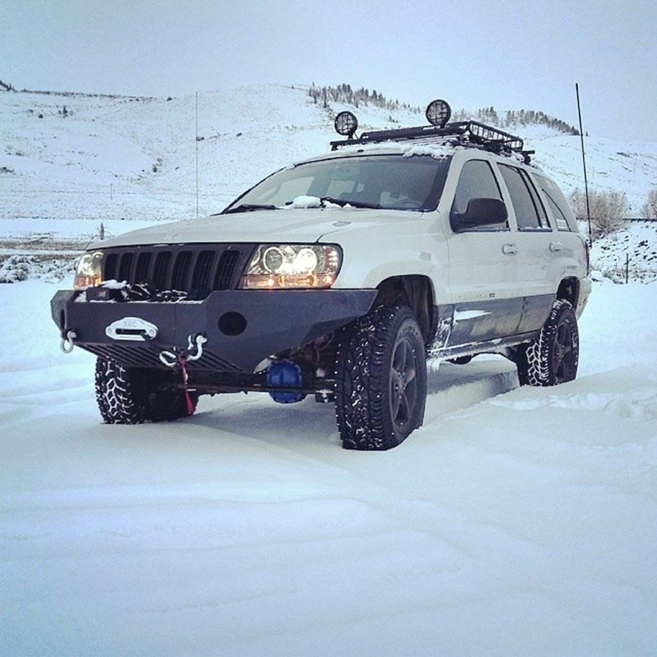 @americas_wjs @jeepwjs Snow Wheelin Mountainlion Hunting