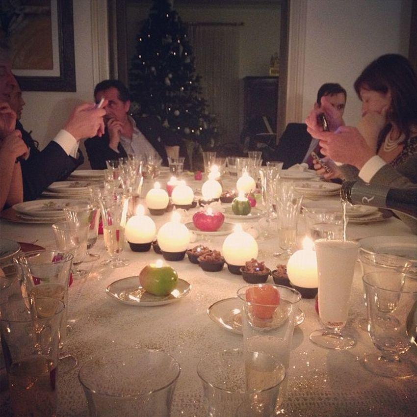 Christmas Xmas Atmosphere Family Dinner Pieno Come Ilporco
