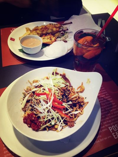 Thai Food Asian Food Ba Mee Pad & Satay Gai Yummi