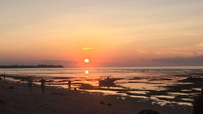 Starting A Trip Water Reflections Sunset Beach Life Is A Beach Light And Shadow Hello World Hanging Out Enjoying Life Nature bali