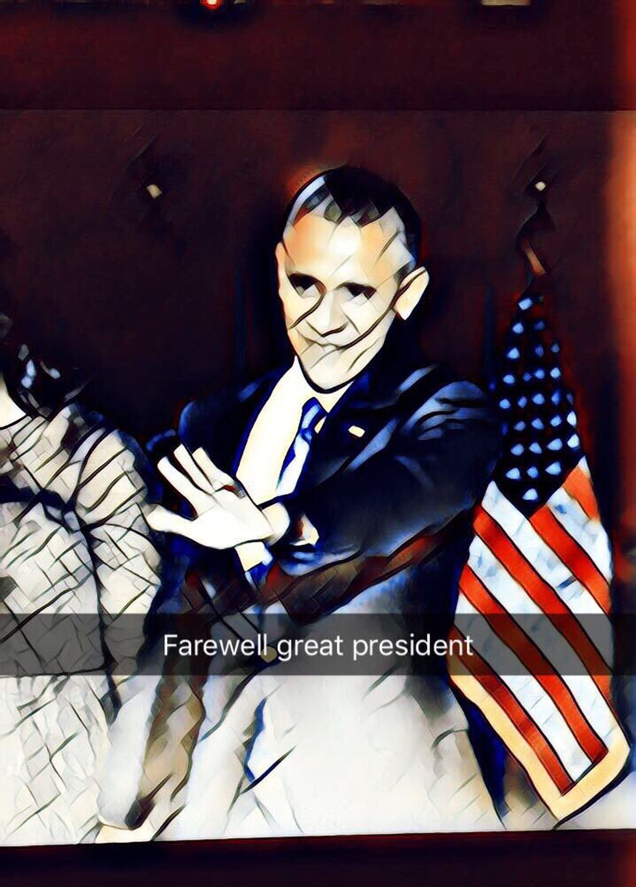 Loved this President of the USA Obama President Farewell Arts ArtWork Bye Bye One Person Power HERO