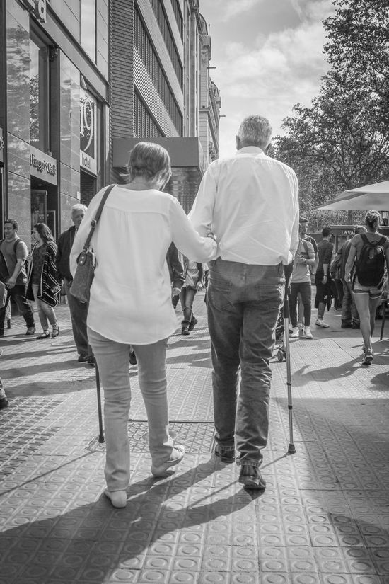Cane Couple Senior Citizen  The Street Photographer - 2016 EyeEm Awards