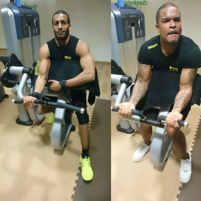 Black Gorilla Mob BGM Today's Hot Look Black Power Germany Eritrean Jamaican GymLife Gym Flow Gym Pump Muscle 💪💪 Tattoos Tatted Body & Fitness