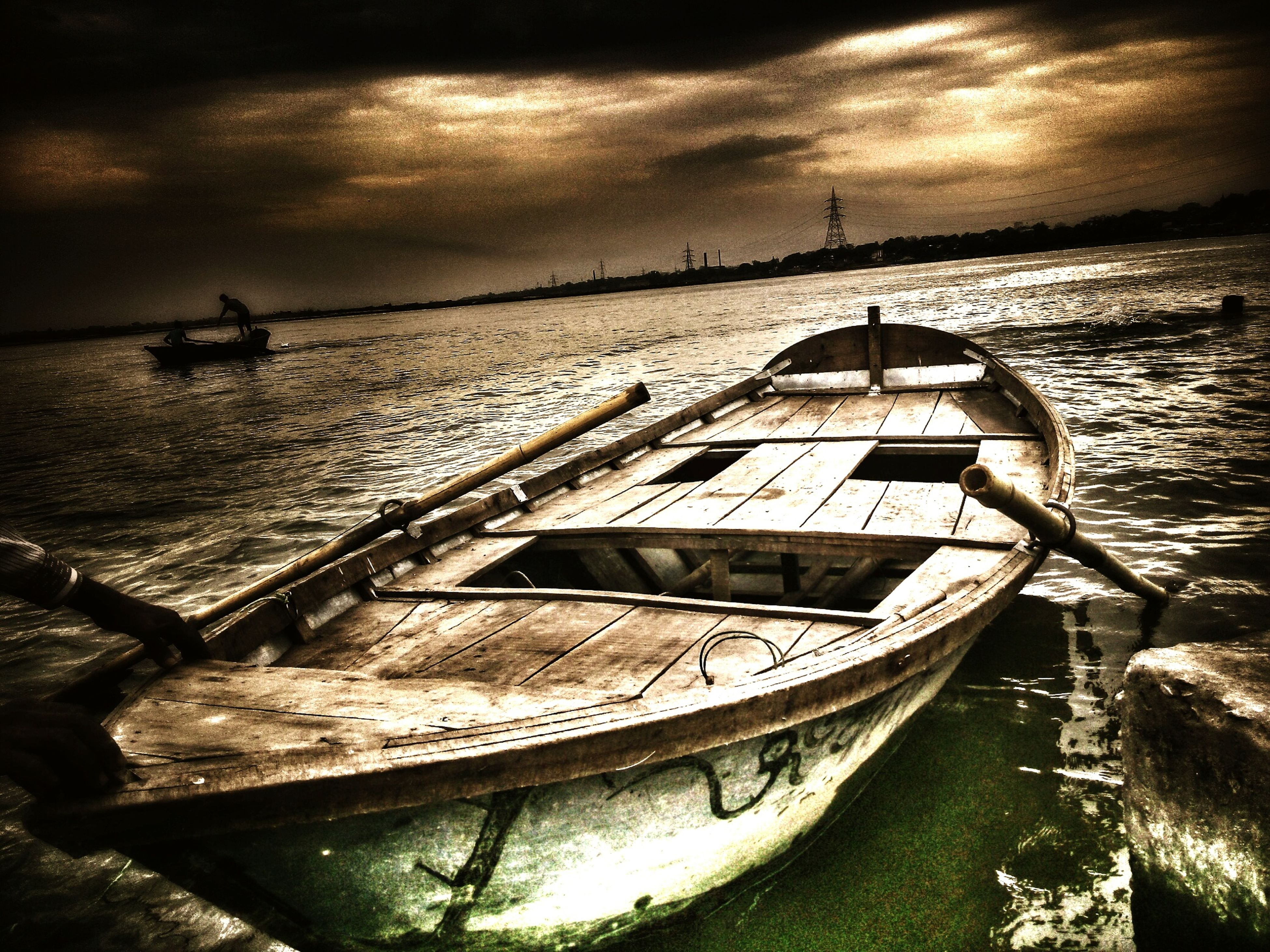 nautical vessel, water, boat, transportation, moored, mode of transport, sea, sky, abandoned, cloud - sky, tranquility, nature, horizon over water, tranquil scene, damaged, shore, no people, outdoors, beauty in nature, day