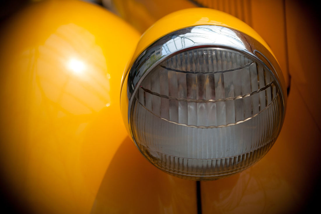Antique Car Car Close-up Head Light Object Photography Objects Of Interest Yellow Yellow Car