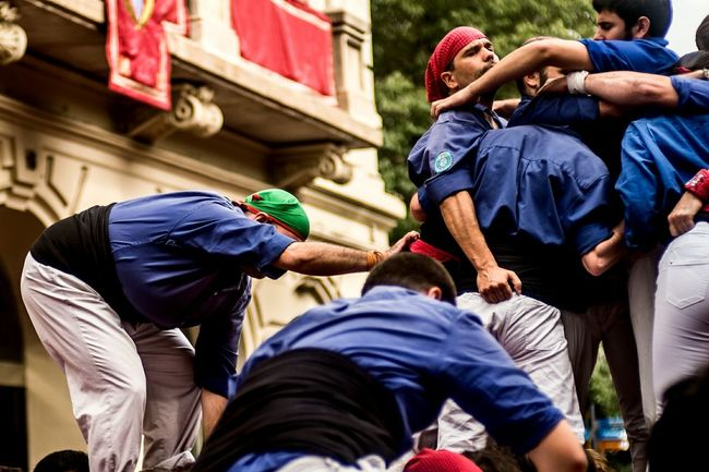 Large Group Of People Lifestyles Fragments Of Life Built Structure Traditions Crowd Popular Culture Open Edit Castells Traditional Clothing Castellers