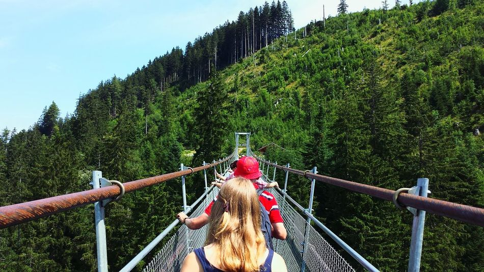 Beautiful stock photos of outdoors, Adventure, Bridge - Man Made Structure, Built Structure, Day