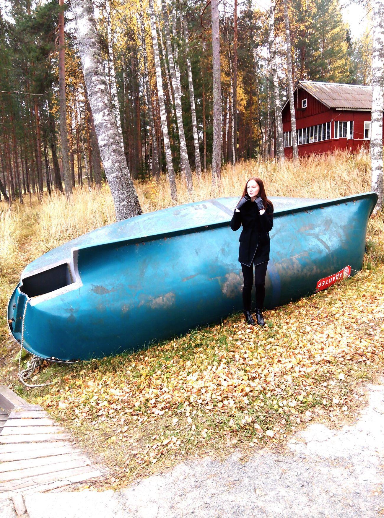 отдыхнаприроде лодка осень прекрасна 🌾🍂🍃
