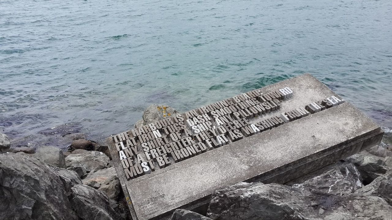 Beauty In Nature Concretedesign Harbour Concrete In Memory Jetty No People Ocean Outdoors Rippled Sea Wellington Harbour Wellington Nz