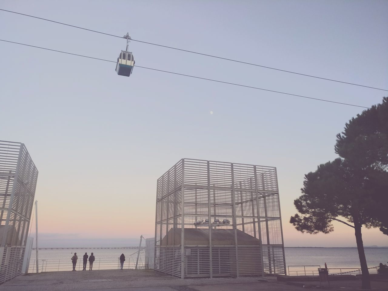 People looking at the sea and enjoying the sunset view Outdoors People Watching People People And Places View Sunset Sky Day Cable Car Beautiful Beautiful Nature First Eyeem Photo