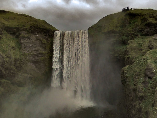 Beauty In Nature Geology Iceland Memories Iceland_collection Impressive Nature Outdoors Power In Nature Power Of Nature Rock Skogafoss Stormy Sky Stormy Weather Taking Pictures Travel Travel Photography Traveling Water Waterfall Waterfall_collection Waterfalls