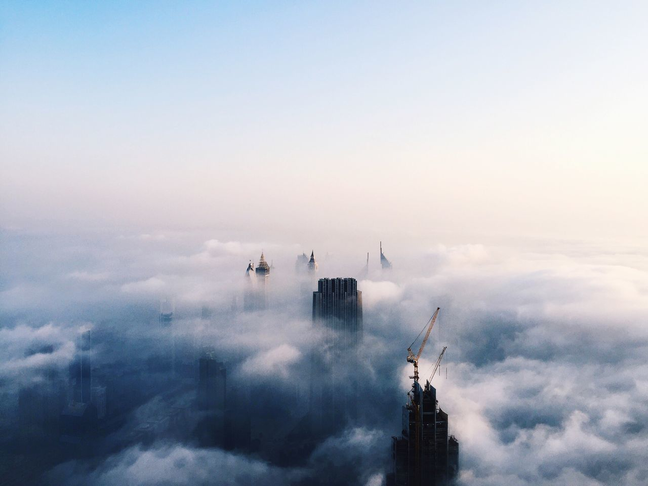 Beautiful stock photos of cloud, Architecture, Building Exterior, Built Structure, Burj Khalifa