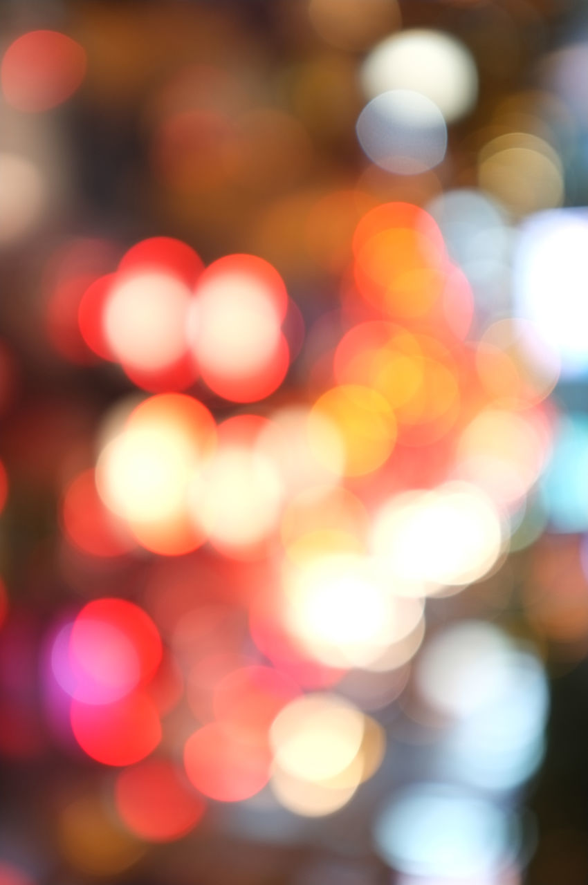 night, illuminated, defocused, focus on foreground, glowing, celebration, lighting equipment, light effect, no people, backgrounds, outdoors, close-up