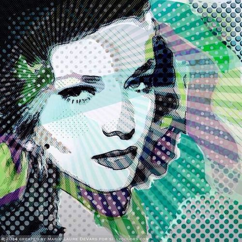 Digital Painting Digital Drawing Sillycolors Silly Colors Thelook LaurenBacall