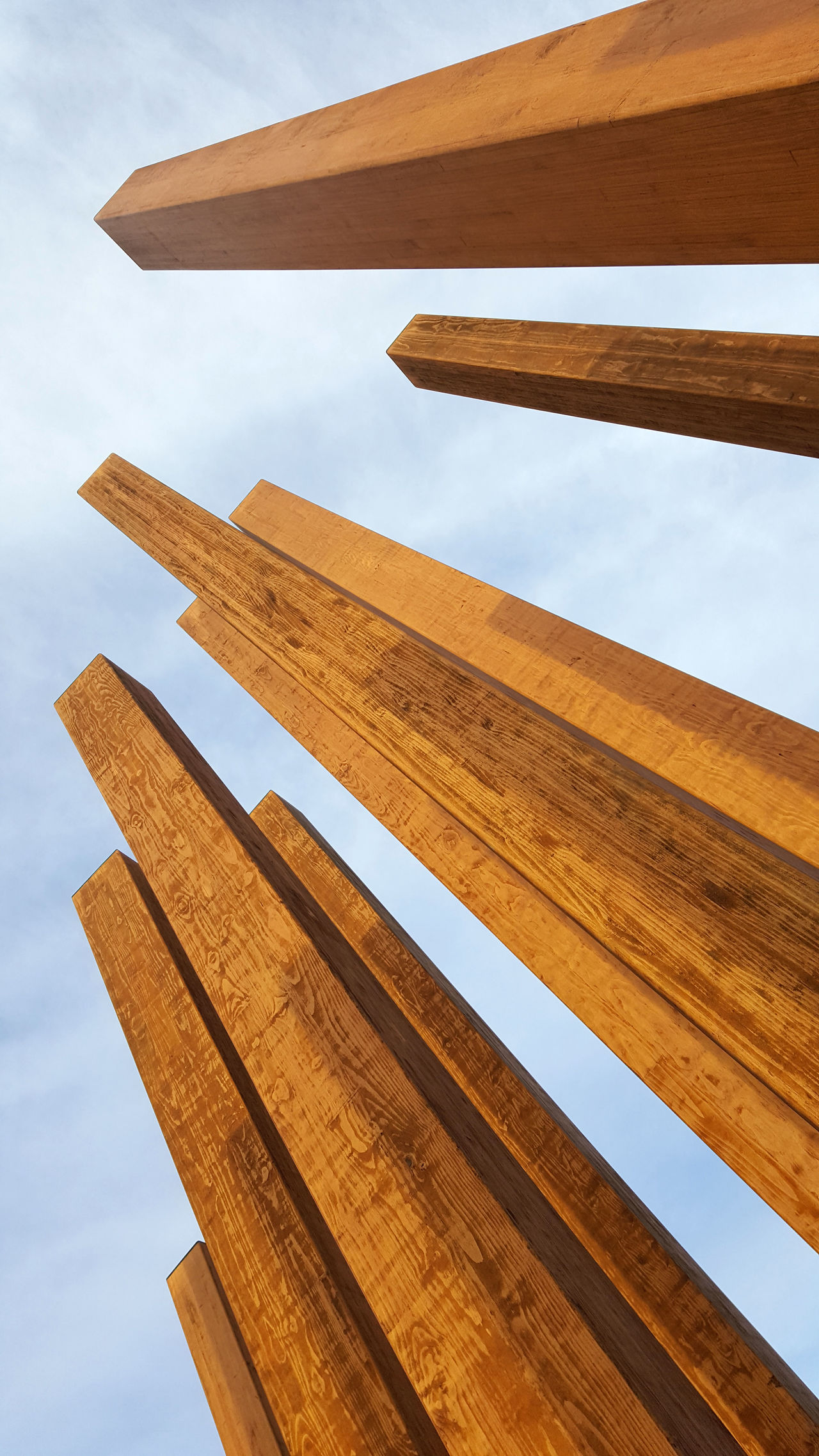 Dublin City University Low Angle View Sculpture Signature Sky Symbol Wood - Material