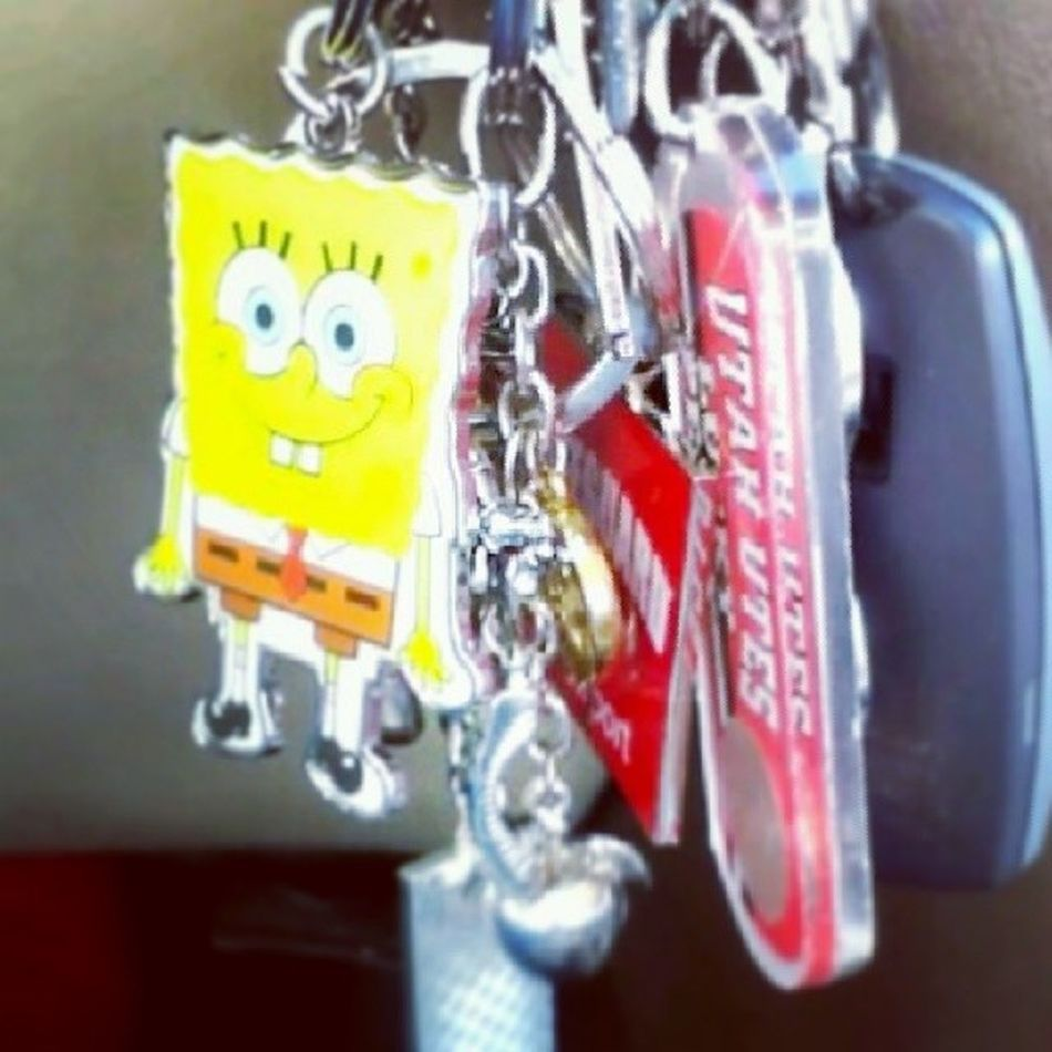 Of course these are my keys. Sarbearstyle Spongebob Keys Keychains  galore