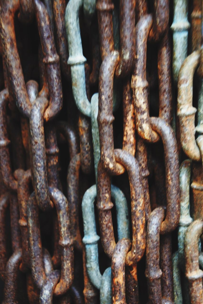 metal, security, rusty, close-up, safety, full frame, chain, backgrounds, protection, no people, weathered, strength, outdoors, textured, day