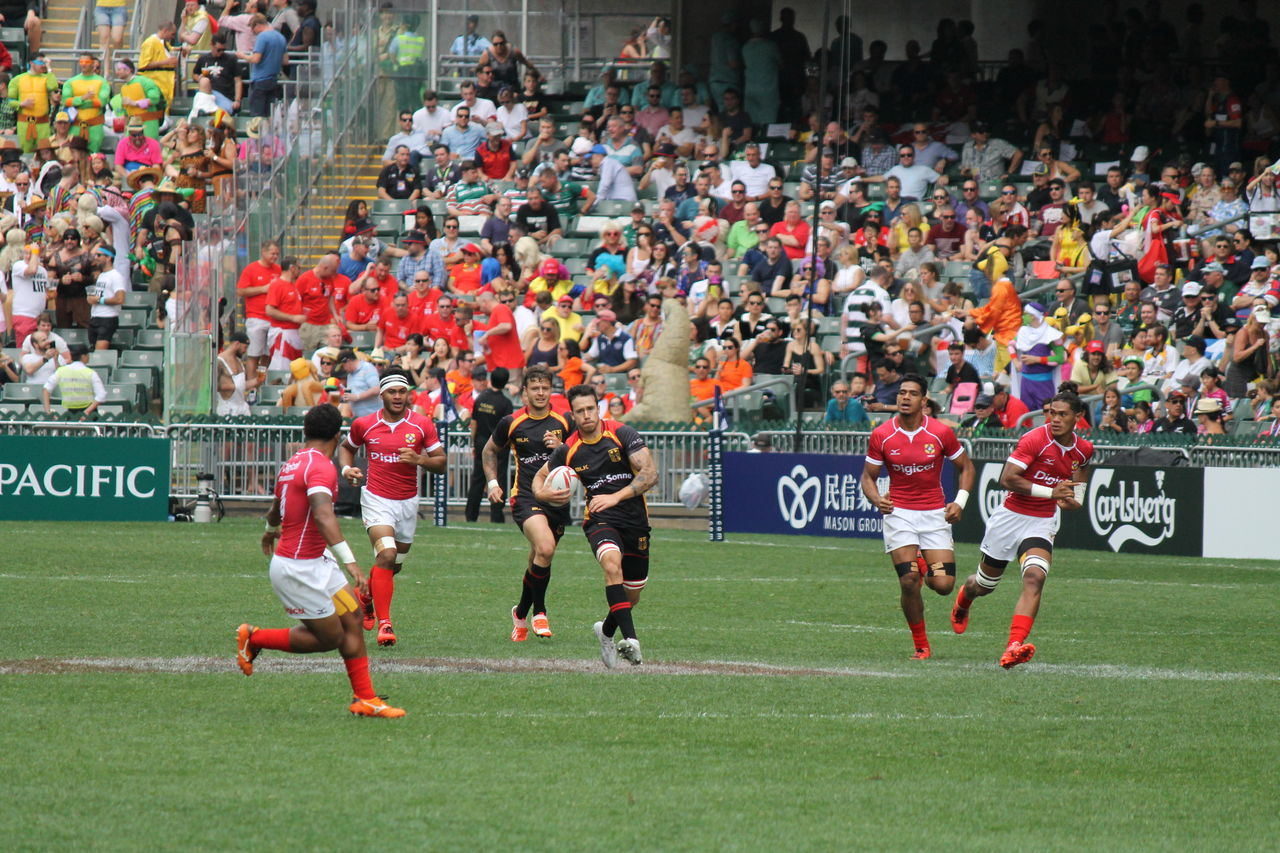 HSBC World Rugby Sevens Series 2017  Adult Athlete Competition Competitive Sport Crowd Day Fan - Enthusiast Large Group Of People Match - Sport Men Motion Only Men Outdoors People Rugby Rugby7 Running Spectator Sport Sports Race Sports Team Sportsman Stadium Teamwork Togetherness