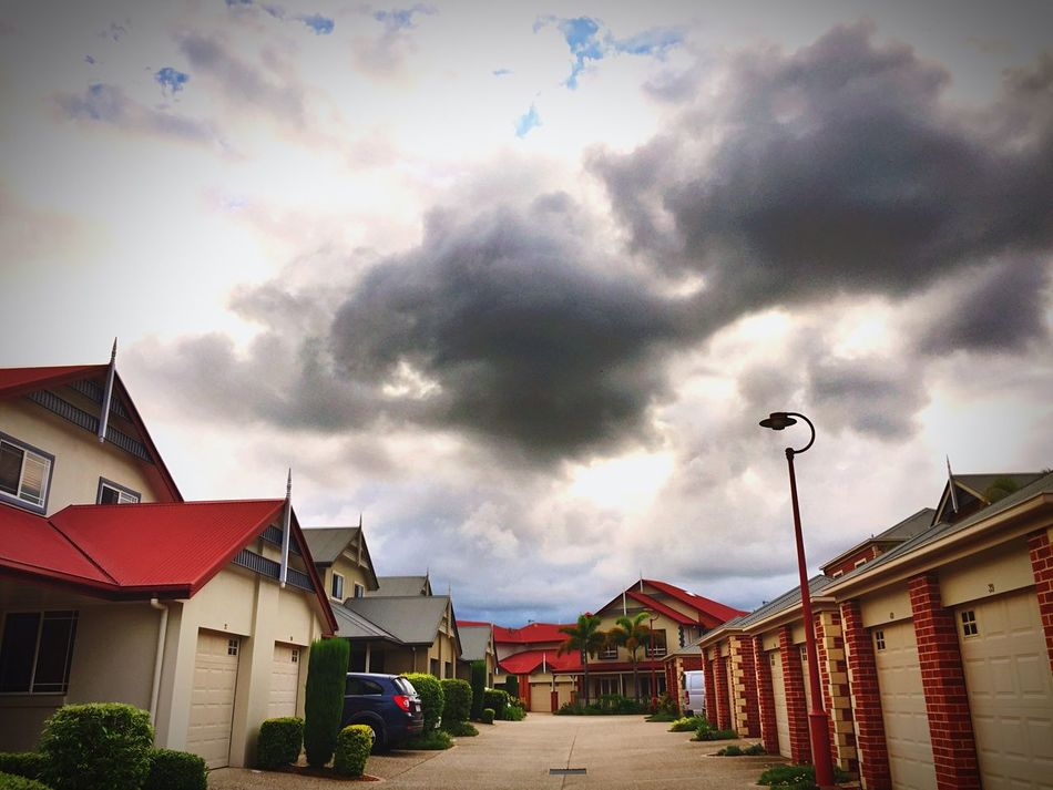 Rain clouds Scenics Queesland, Australia Majestic Power In Nature Clouds And Sky HDR Collection Dramatic building Drive Way apartments
