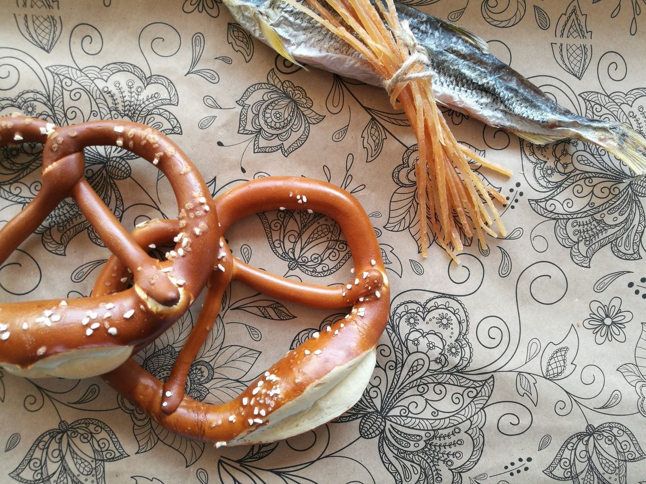 Food Fish Dried Fish  Bakery Bretzelkäfer Couple Sweet Food Food And Drink Pretzel No People