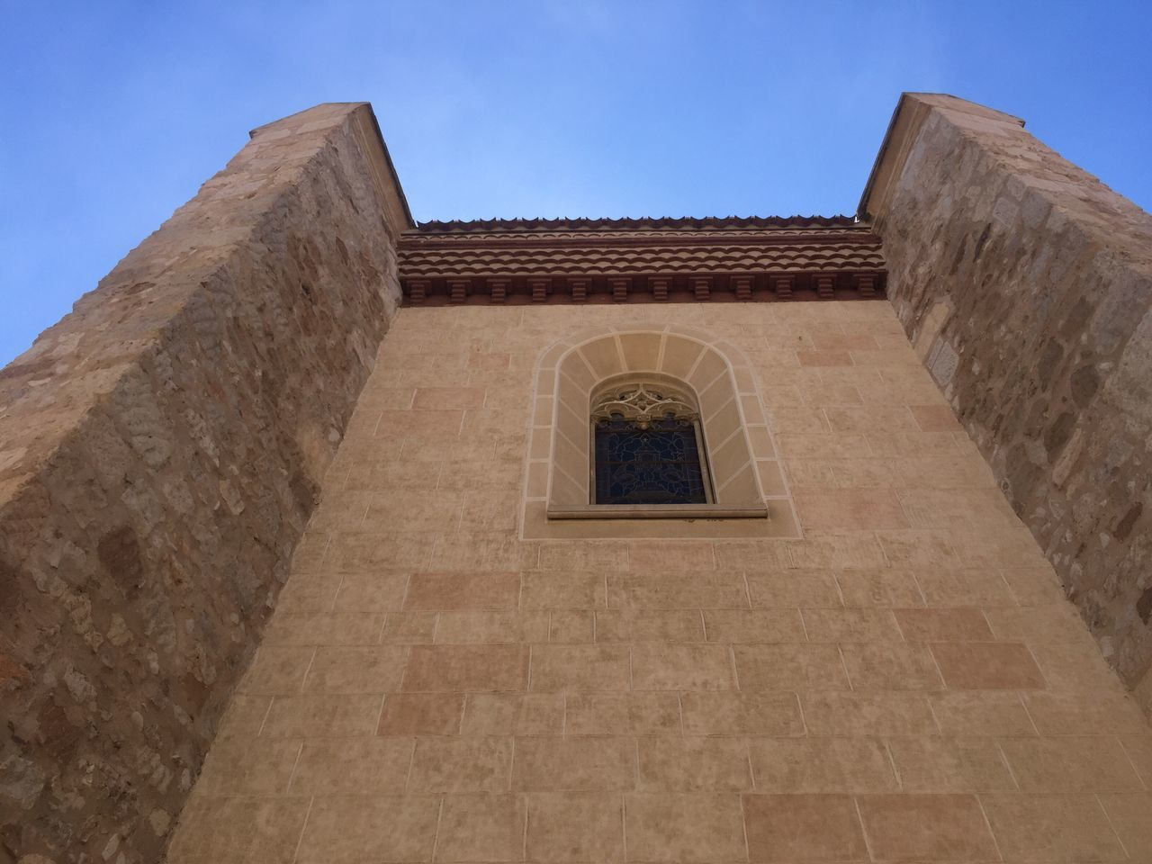 Architecture Built Structure Low Angle View Building Exterior History Travel Destinations Place Of Worship Day Religion Spirituality Sky No People Ancient Civilization Outdoors Ancient Alcalá De Henares. (Madrid) 35°C