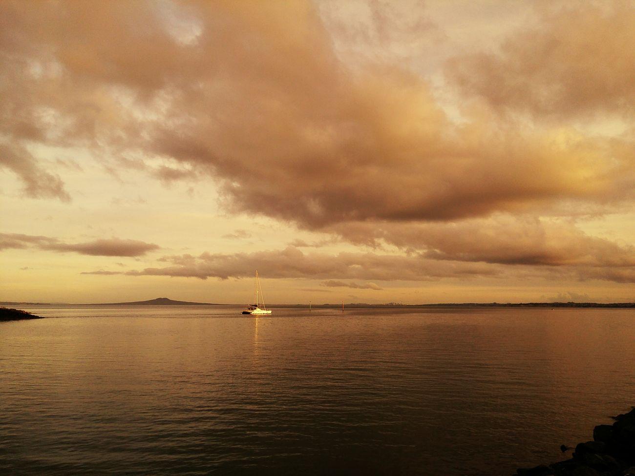 Sea Beach Yatch Sunset Vocano SuparGusCollection