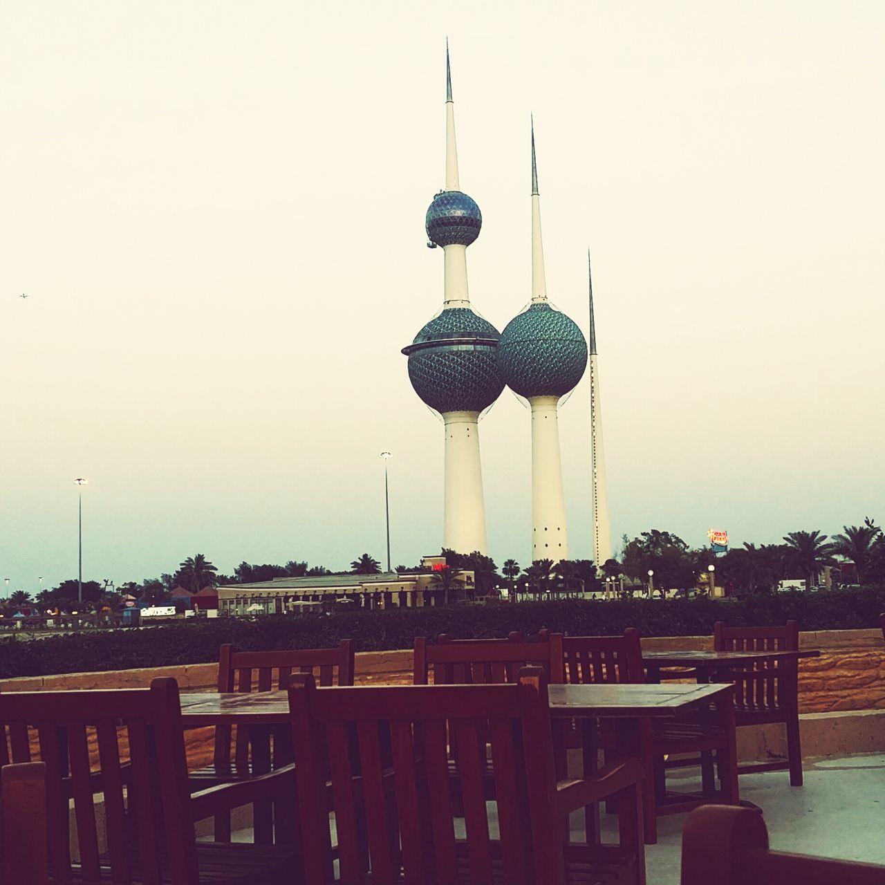 Clear Sky Sky Kuwait Towers Famous Place Tall - High Tourism Seaside Kuwait Kuwait City ❤️❤️❤️💋💋💋💋❤️❤️❤️