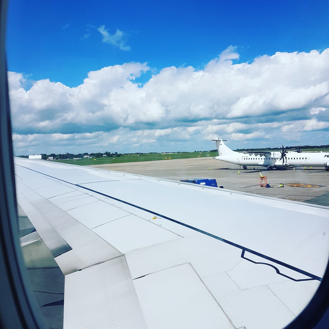 Cloud - Sky Sky Travel Destinations Outdoors No People Day Travel Plane Wings Airport Airplane Wing ViewOutTheWindow Up Flying
