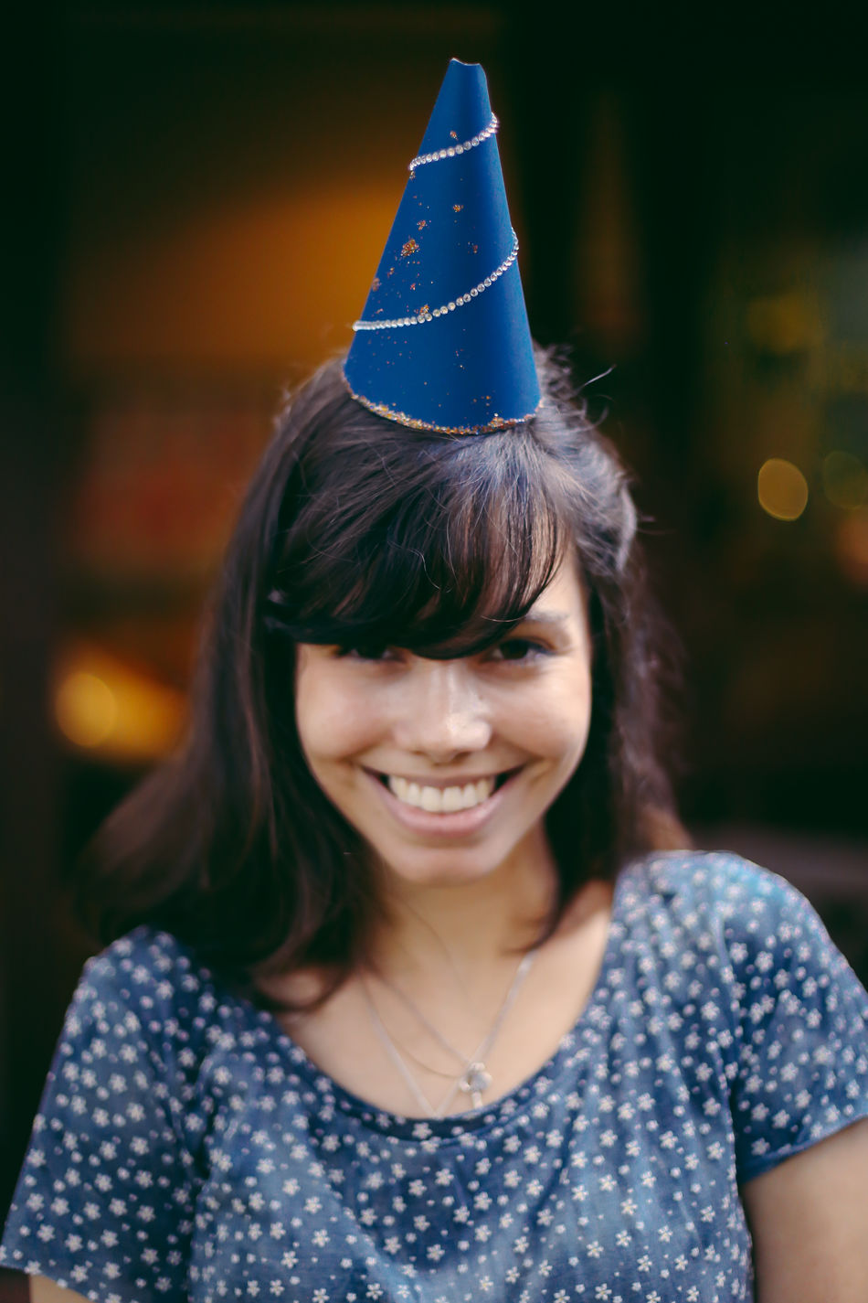 Do it yourself: party hats! Birthday Birthday Party Birthdaygirl Birthdays Celebration Celebration Cheerful DIY Enjoy The New Normal Fun Happiness Happiness Happy Hat Headshot One Person Only Women Party - Social Event Party Time Portrait Portrait Of A Friend Portrait Of A Woman Real People Smiling