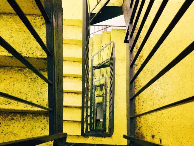 Stairways Yellow | Black - A Parking Lot in Dortmund, Germany