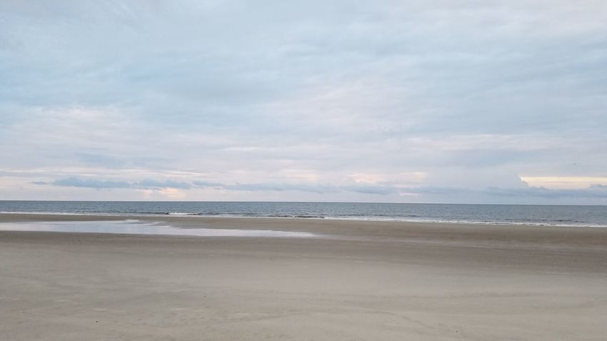 Premium Collection Beautiful Beach Landscape Tranquility No People Hilton Head Island, SC Hilton Head Hilton Head Island SC Ocean Background Backgrounds Sky Neutral Colors Vacations Tourism Sand No Filter No Edit Simple Sea Plain Scenics Beauty In Nature Cloud - Sky Travel