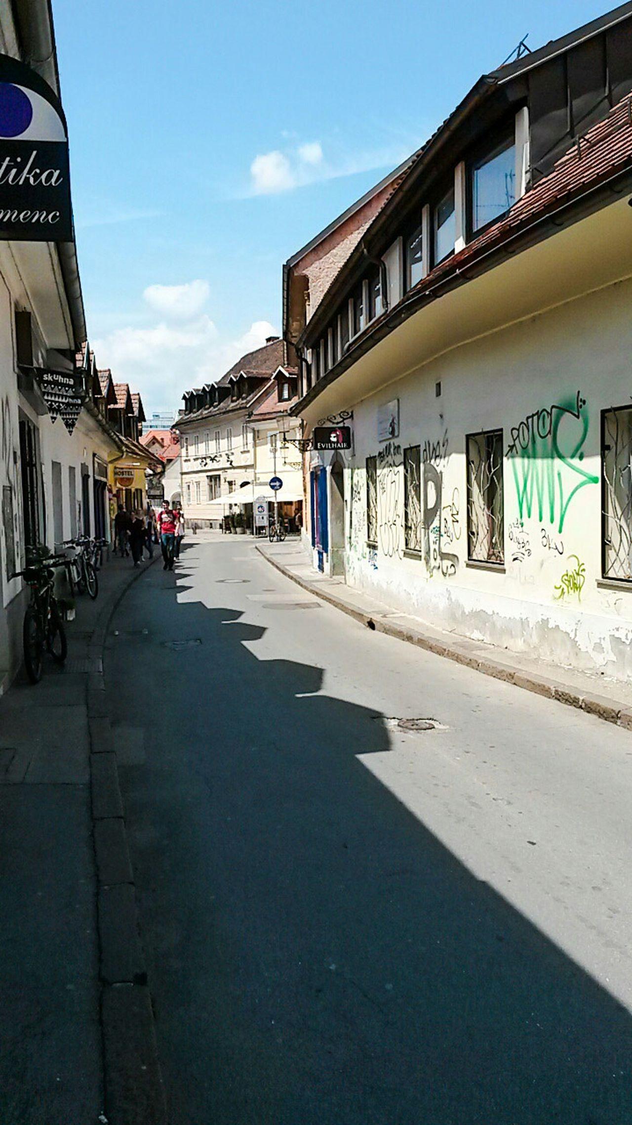 Lubljiana Lubiana Streetview Shadow