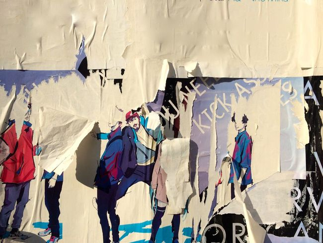 Art Cable Clothesline Clothing Day Graffiti Multi Colored Outdoors Poster Wall Street Art