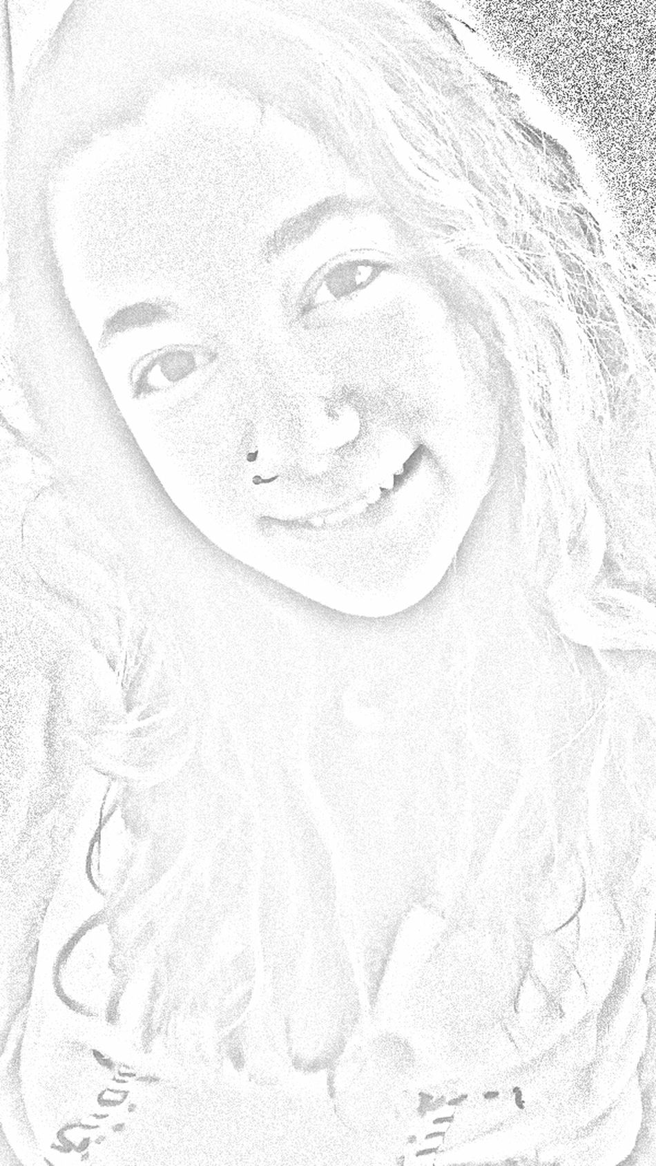 Charcoal Sketch Smiling Face White Photo Editor Gooddays EyeEm