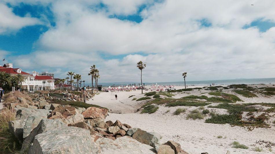 Coronado Beach San Diego California Dreaming Coronado Beach Enjoying Life Love America Perfect Weather Place To Be  Study Abroad 🌴 White Sand Beach
