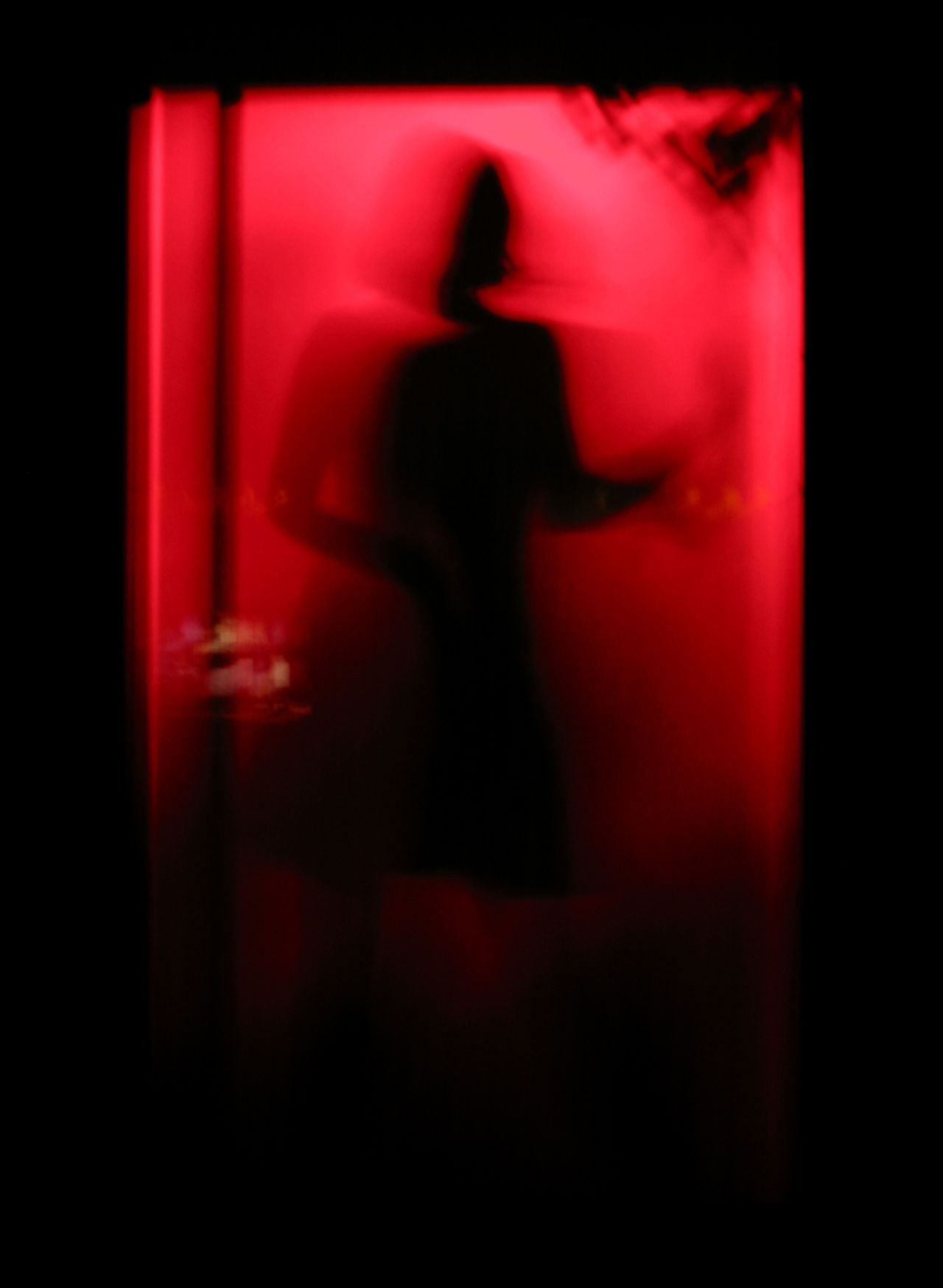Adult Adults Only Dancer Dancing Entertainment Night Club Nightlife One Person Red Red Light Red Light District Silhouette Standing Table Dance Unrecognizable Person Woman