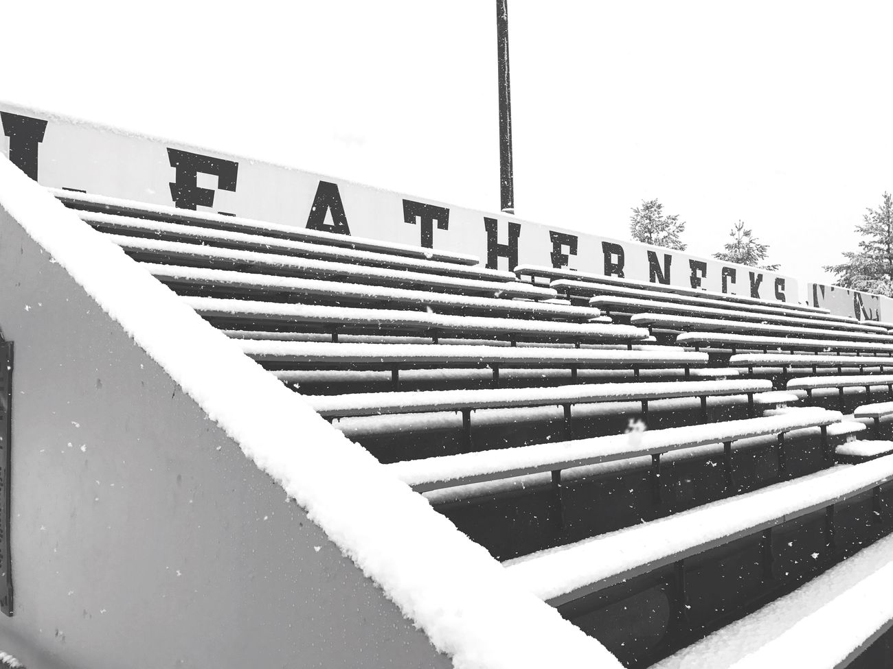 Day Built Structure Outdoors No People Sky Architecture WIU Leathernecks Football Stadium Bleachers Snow Football College Campus Off Season Winter Rocky