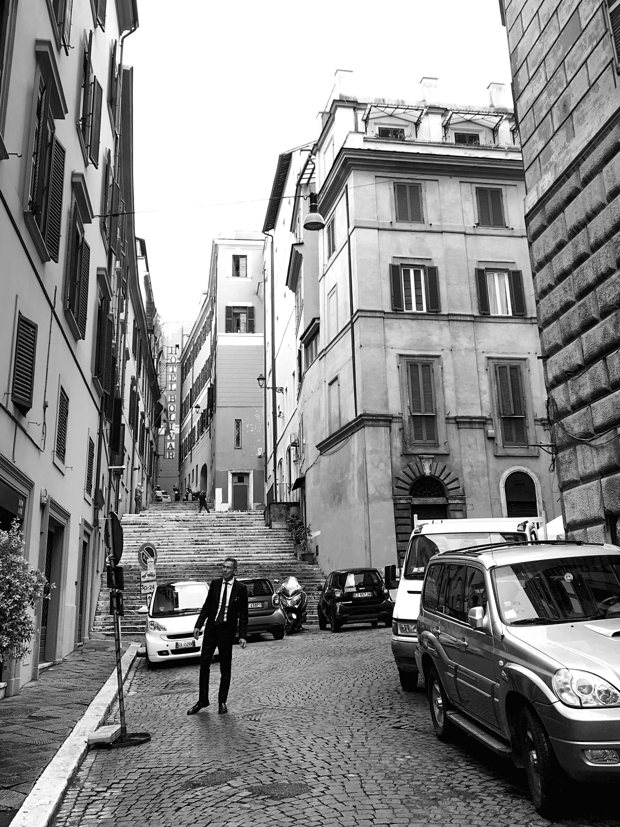When in Rome 005 City Life City Street Rome Italy AMPt - Street Shootermag Blackandwhite Black & White Photography Person Black And White Street