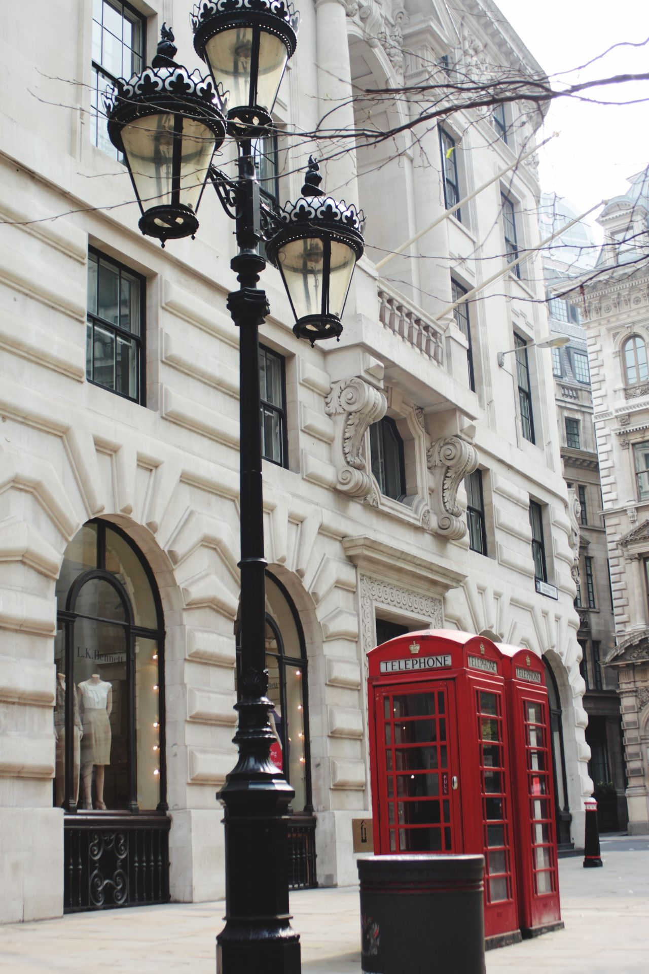 Building Exterior Architecture Outdoors London Red Phone Boxes Red Lamp Black And White With A Splash Of Colour Streetphoto_color City Outdoor Photography From Where I Stand Built Structure Buildings