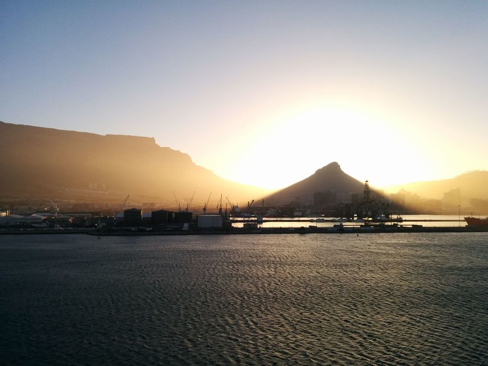 Sunset Capetown Port Sailor Traveling Travel Photography Wanderlust Vscocam Mountain Landscape Skyporn First Eyeem Photo