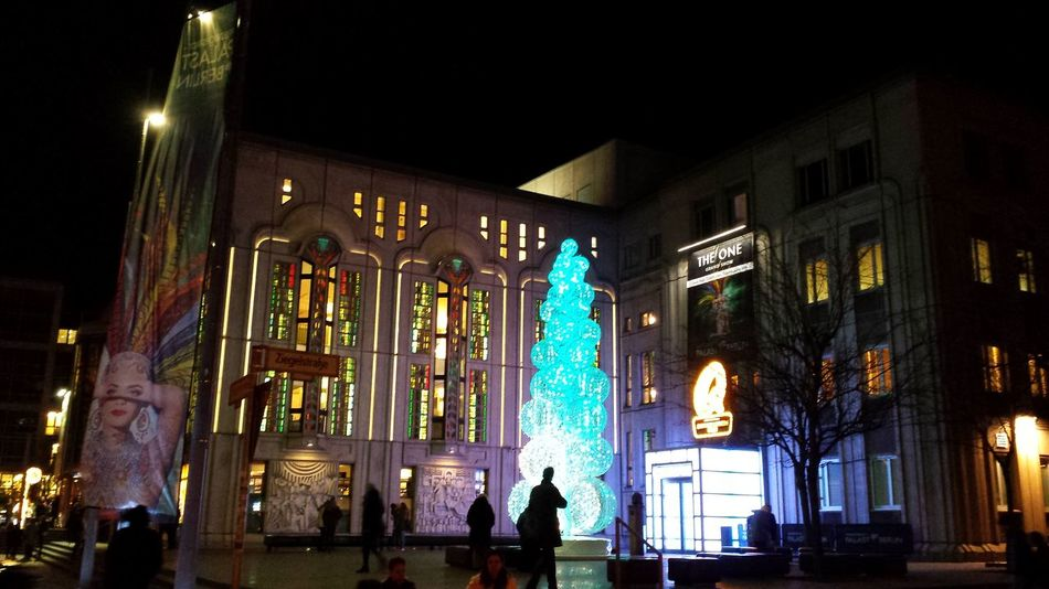 Friedrichstadt-Palast 🎭 Berlin Night Illuminated City People Architecture Outdoors Christmas Decoration Berlin Tadaa Community Femalephotographerofthemonth The Purist (no Edit, No Filter) Taking Photos Enjoying Life Theaterlovers Friedrichstadtpalast Theatre The One The One !
