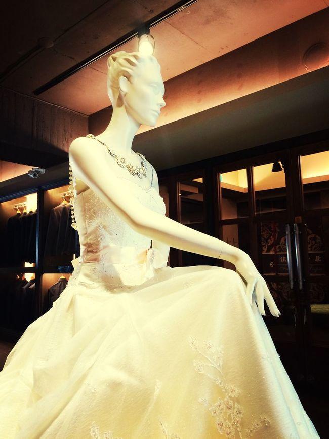 拍婚紗了!內心很緊張。