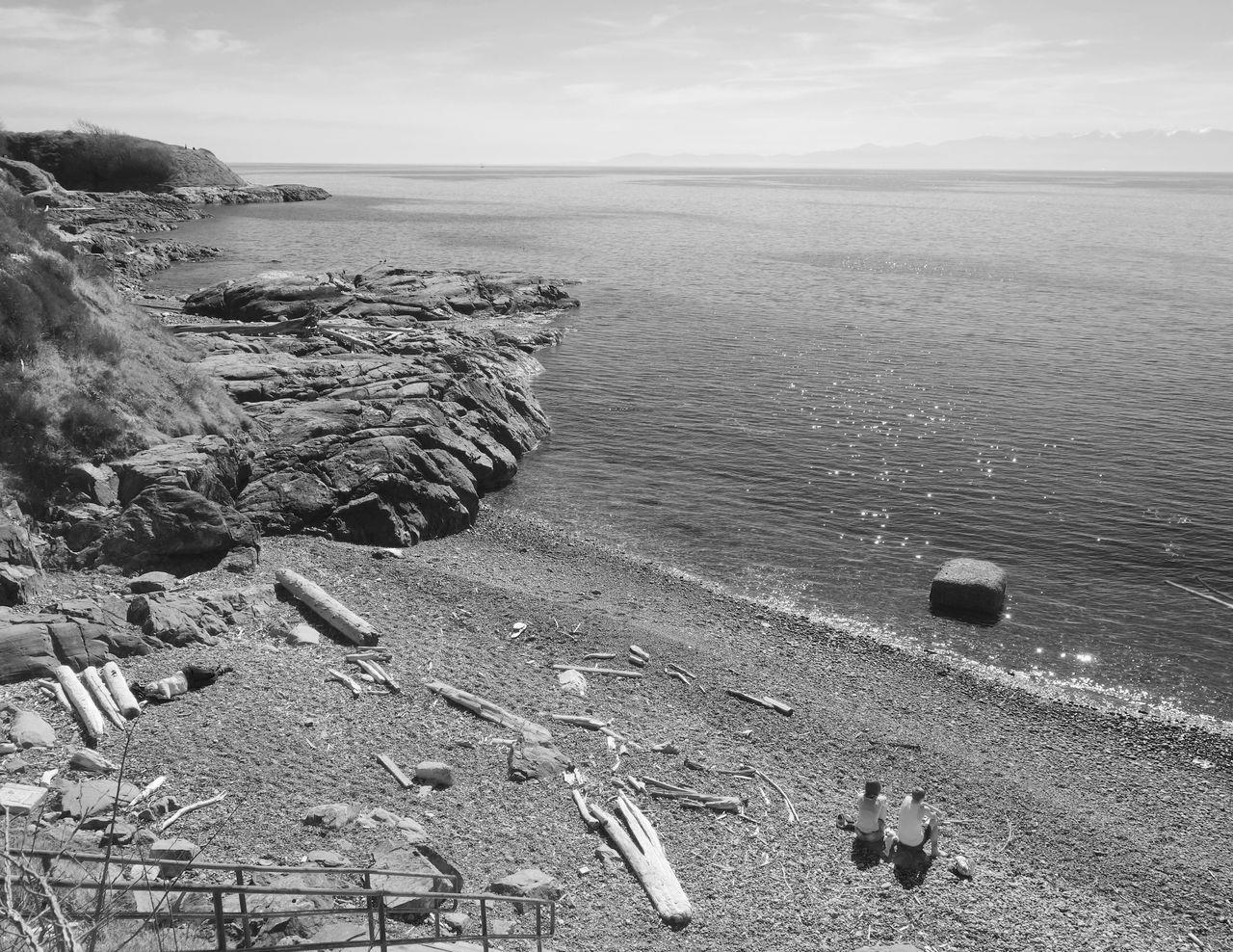 Seascape Beach Seaside Seashore Black & White Blackandwhite Black And White Blackandwhite Photography Bw Sea