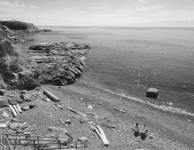 Seascape Beach Seaside Seashore Black & White Blackandwhite Black And White Blackandwhite Photography Bw Sea