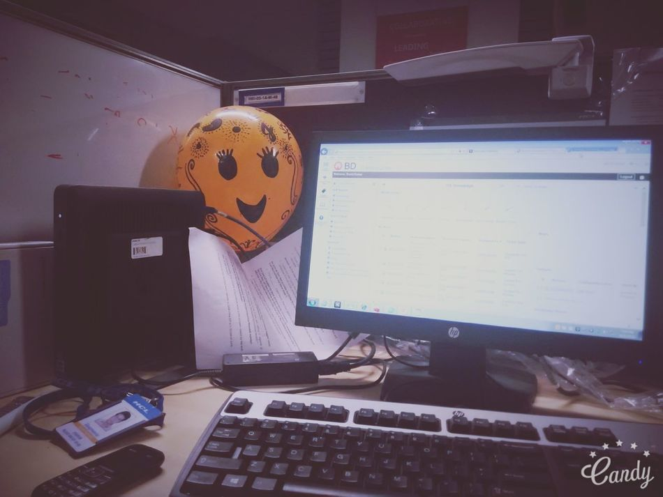 My work station 😉 Working On Weekend Work Workstation Baloon Ofice