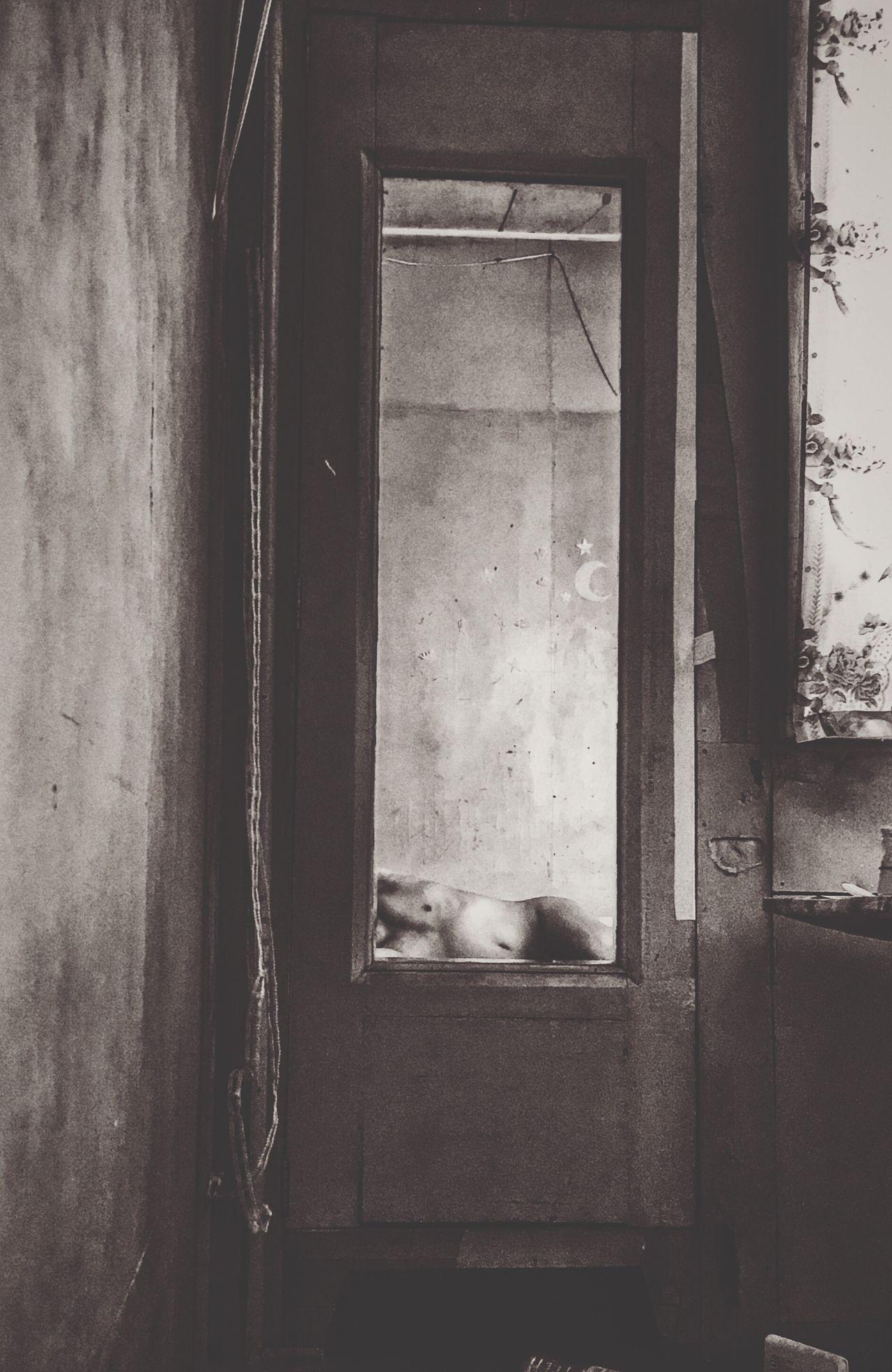Mirror Reflection Mirror Image Indoors  Room Sad & Lonely Nakedhuman Noclothestoday Secrets Mirror Picture Eye4photography  EyeEm EyeEm Best Shots - Black + White