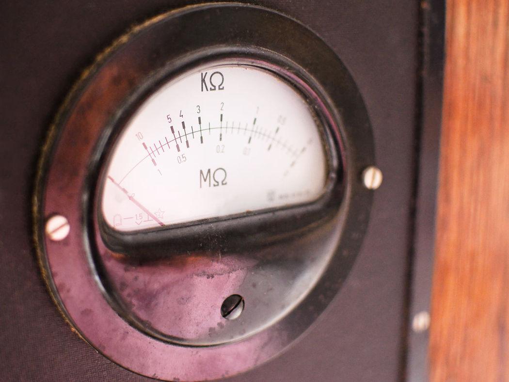 old meter resistance blurred Ampere Antique Electric Electrical Electricity  Equipment Impedance Instrument Kilohm Measure Measurement Megaohm Meter Obsolete Ohm Old Old-fashioned Resistance  Retro Scale  Technology Tool Vintage Volt